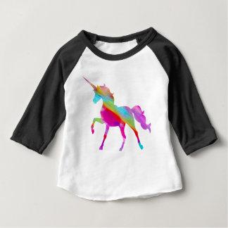 Magical sparkly rainbow prancing unicorn baby T-Shirt