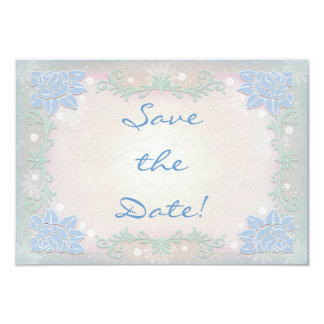 Magical Spring Flowers Wedding Save the Date 9 Cm X 13 Cm Invitation Card