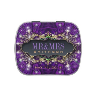 Magical Stars Delight Purple Party Favors Candy Jelly Belly Candy Tin