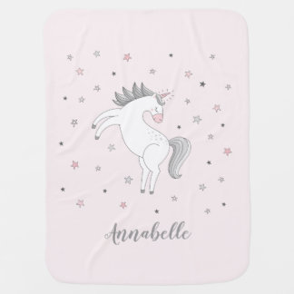 Magical Unicorn Girl Baby Blanket