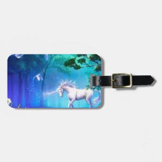 magical unicorn luggage tag