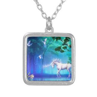 magical unicorn square pendant necklace