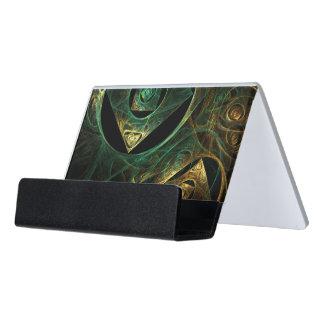 Magical Vibrations Abstract Art Desk Business Card Holder