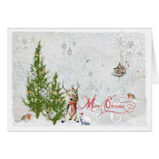 Magical Woodland Christmas Note Card