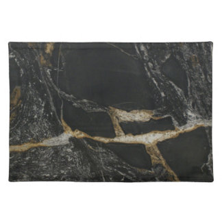 """magma gold granite"" Placemat"