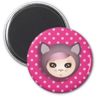 "Magnet ""Kitty Miss"" - Collection Kiwi Fraud"