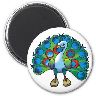 Magnet-peacock peafowl magnet