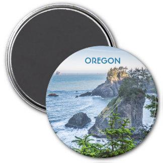 Magnet: Sea Stacks And Iris (Round) 7.5 Cm Round Magnet