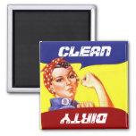 Magnet Vintage Rosie the Riveter Dish washer Flip