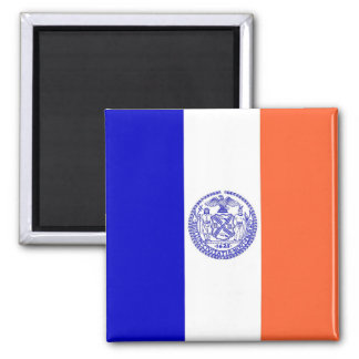 Magnet with Flag of New York City - USA