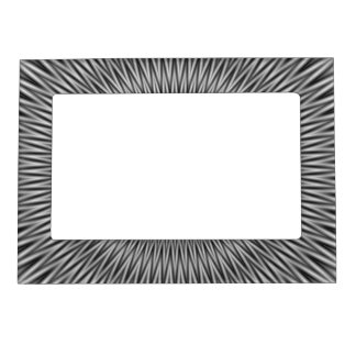 Magnetic Frame  Floral Motif in Monochrome