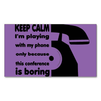 Magnetic Phone Keep Calm Magnetic Business Card