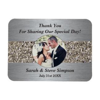 Magnetic Wedding Photograph Thank you Memento Rectangular Photo Magnet