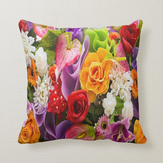 Magnificent Bouquet of Flowers Cushion