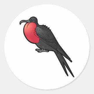 Magnificent Frigatebird Classic Round Sticker