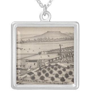Magnolia Farm, Kansas Silver Plated Necklace