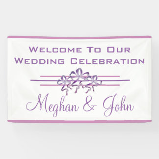 Magnolia Lavender - Wedding Banner - 3' x 5'