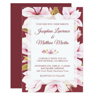 Magnolia Romance Floral Wedding Invitations