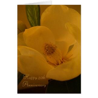 "Magnolia Sateen"" Happy 50th Anniversary Greeting C Card"