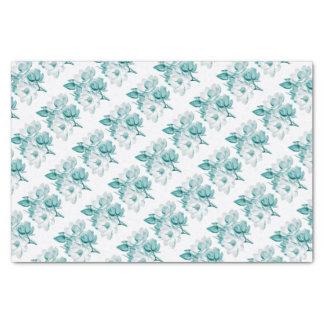 magnolia teal tissue paper