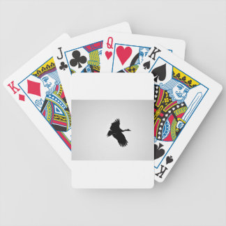 MAGPIE GEESE IN FLIGHT SILHOUETTE AUSTRALIA BICYCLE PLAYING CARDS