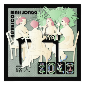 Mah Jongg 2014 Pastel July Card/Invitation 13 Cm X 13 Cm Square Invitation Card