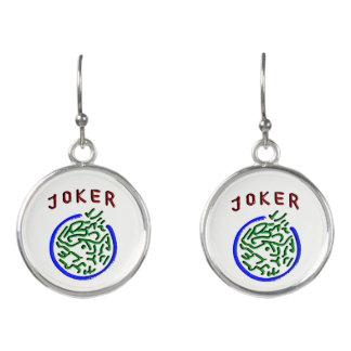 Mah Jongg Joker Earrings