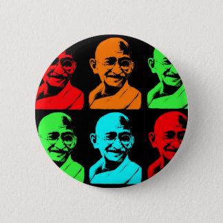 Mahatma Gandhi Collage 6 Cm Round Badge