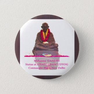 Mahatma GANDHI Father of Nation India 6 Cm Round Badge