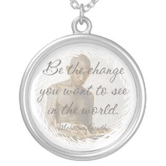 Mahatma Gandhi Quote Necklace