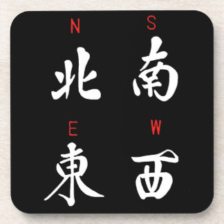 Mahjong Winds,Honor Suit,North,South,East,West (b) Coaster