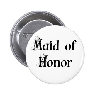 Maid of Honor Button/Badge 6 Cm Round Badge