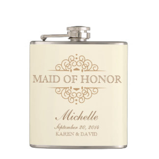 Maid of Honor Gift Vintage Wedding Party Flask