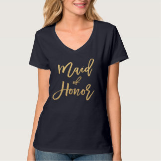 Maid of Honor Gold T-Shirt