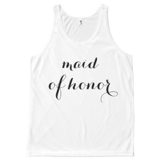 Maid of Honor Tank All-Over Print Tank Top