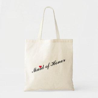 Maid of Honor Wedding Bridal Shower Slim Tote Bag