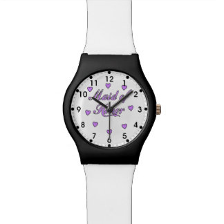 Maid of Honor Wedding Hearts Watch