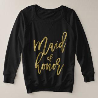 Maid Of Honour Faux Gold Plus Size Plus Size Sweatshirt