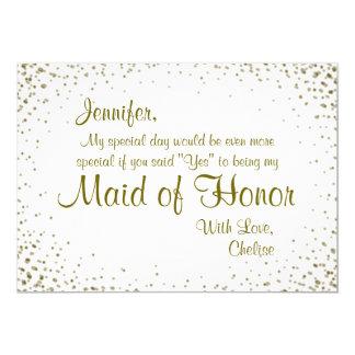 Maid of Honor | Gold Confetti
