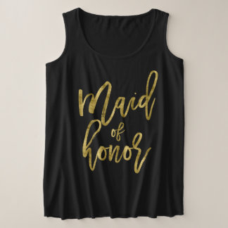 Maid Of Honour Plus-Size Tank Top Faux Gold