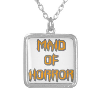 Maid of Horror Silver Plated Necklace