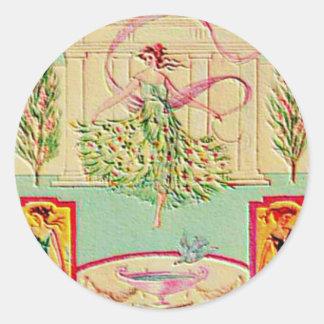 Maiden Goddess Athena Classic Round Sticker