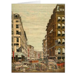 Maiden Lane New York City c1875 Card