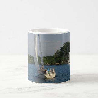 Maiden on Detroit River Coffee Mug