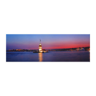 Maiden's Tower İstanbul Bosphorus Panorama Gallery Wrap Canvas