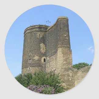 Maiden Tower Baku Classic Round Sticker