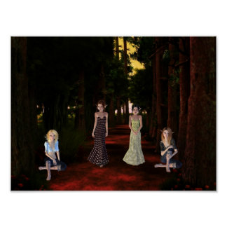 Maidens in Forest Poster