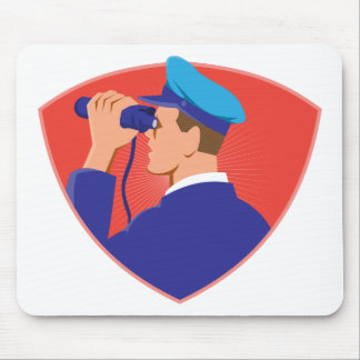 mailman postal worker delivery man mouse pad