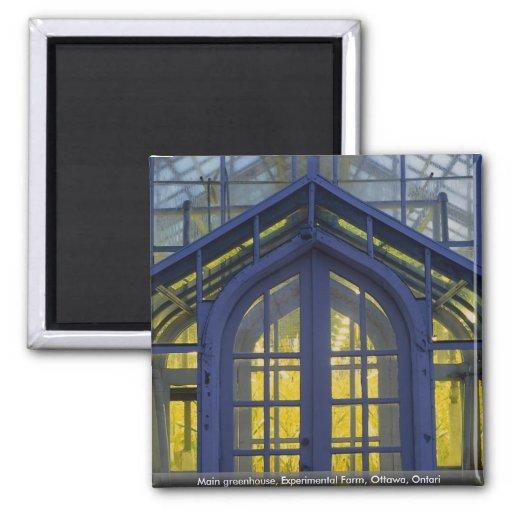 Main greenhouse, Experimental Farm, Ottawa, Ontari Fridge Magnets