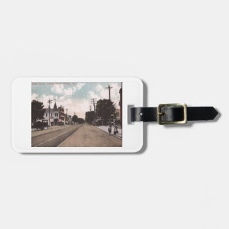 Main St., Belmar, New Jersey Vintage Luggage Tag